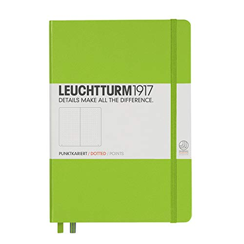 LEUCHTTURM1917 317567 Notizbuch Medium (A5), Hardcover, dotted, limone