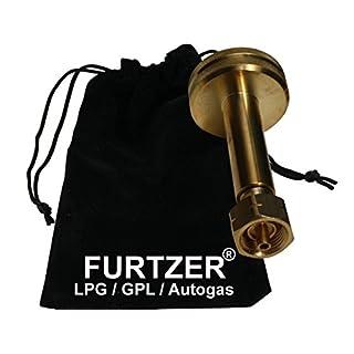 Furtzer® LPG GPL Autogas Tankadapter Dish Gasflaschen Propangas lang mit Stoffbeutel