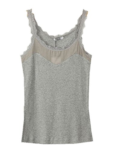 YICHUN Damen Unterhemd Grau