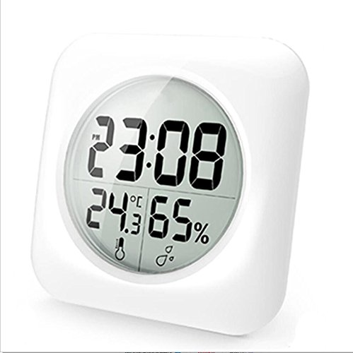 LED Digital Wecker Mit Sucker, Thermometer, Hygrometer, Wasserdicht,  Zeitgesteuert,