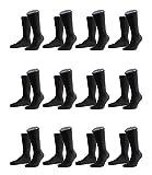 FALKE Herren Family Socken Strümpfe 14645 12er Pack, Sockengröße:43-46;Artikel:14645-3000 black