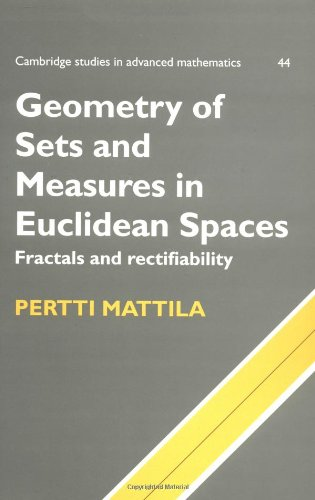 Geometry of Sets & Measures Spaces: Fractals and Rectifiability (Cambridge Studies in Advanced Mathematics)