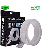 TONY STARK ® 3 Meter Double Sided Adhesive Silicon Tape, Transparent Adhesive Heavy Duty, Heat Resistant, Multi-Functional Removable Washable Reusable Anti-Slip NanoTape.