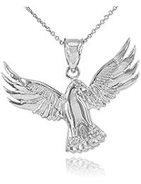 Little Treasures - Sterling Silver Falcon Pendant Necklace