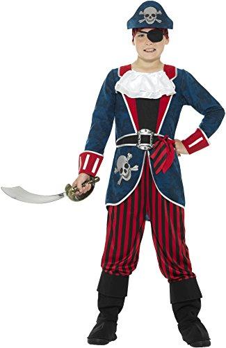 eluxe Pirat Captain Kostüm mit Top/Hosen (mittel) (7 Seas Piraten Kostüme)