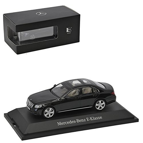 Kyosho Mercedes-Benz E-Klasse W213 Limousine Obsidian Schwarz Ab 2016 1/43 Modell Auto mit individiuellem Wunschkennzeichen