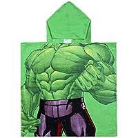 Cerdá 2200003875 Poncho Algodón Avengers Hulk Verde 50x115cm