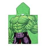 Marvel Avengers - Poncho Accappatoio Mare Piscina con Cappuccio - Bambino - novità Prodotto Originale 22-387X [Verde Hulk - Taglia Unica]