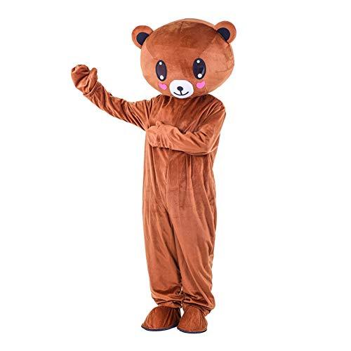 I BIMS-LICHT China bär-Kostüm, Ganzkörper Tier-Kostüme, Tier-Kostüme, Geschenk Erwachsene, 155-185cm, Verkleidung, Karneval, Halloween, Fasching, Geburtstags-Geschenk (C, 165-175cm) - China Männer