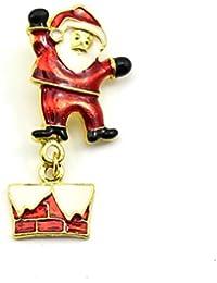 HuaYang Nouveau broche en alliage pour la soirée Noël cadeau de Noël(Pattern C: le père Noëls)