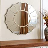 Art Deco Wall Mirror By Venetian Design Diameter - 30 Inches