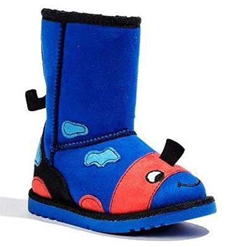 Jumping Beans Boys Blue Dinosaur Face Zipper Side Winter Boots