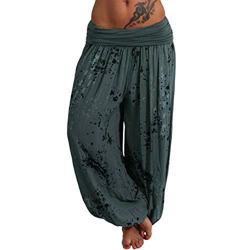 Women Pants Ladies Printed Band Width Loose Leg Pants Women's Casual Loose Plus Size Harem Pants 7 Colors S-5XL A XXXL (Womens Aeropostale Hoodie-xxl)