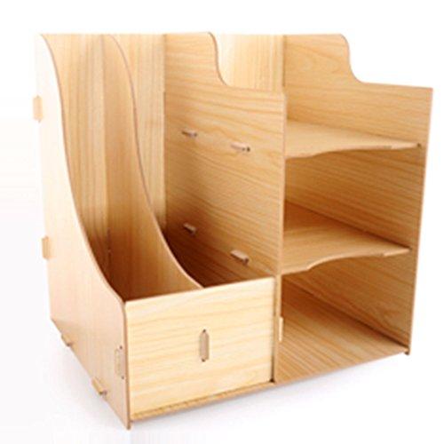 Tisch Organizer, Vicoki A4 Briefablage Büro Schreibtisch Organizer Briefkorb Office Desktop Organizer Caddy Aufbewahrung (Natur)