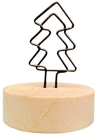 Ensemble de 5 titulaires de mémo créatifs en bois Notes de message Cartes-photos de cartes postales Mémo Clip # 5