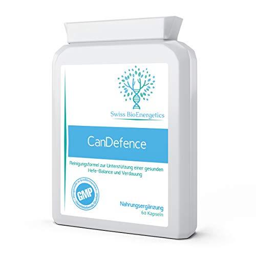CanDefence 60 Kapseln - Ultimative Candida-Reinigung, extra stark, ALL-IN-ONE Formel zur Unterstützung einer natürlichen Hefe-Balance, Darmgesundheit u. Verdauung