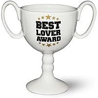 Coppa tazza Best Lover Best Lover Award–bianco, stampato, in ceramica, in confezione regalo con finestra.