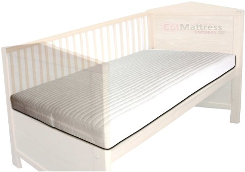 140 x 70 NightyNite® Excelence Pocket Sprung Encased in 50CMHR Foam Cot-bed Mattress Luxurious microfibre cover and made with CMHR 50kilo high density foam