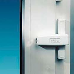 Burg-Wächter Fenstersicherung für die Scharnierseite, Für Fenster aus Kunststoff, Holz oder Aluminium, 2 Schlüssel, WinSafe WS 1 W, Weiß