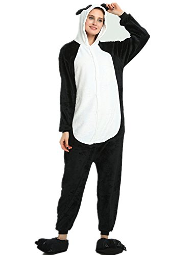 r Cartoon Einhorn Pyjama Overall Kostüm Sleepsuit Cosplay Animal Sleepwear für Kinder / Erwachsene (Small, Panda) (Kind Panda Kostüm)