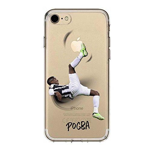 IP7 / IP8 Cover TPU Gel Trasparente Morbida Custodia Protettiva, Soccer Collection, Paul Pogba, iPhone 7, iPhone 8
