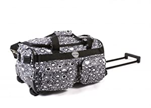 Womens Girlsfloral Design Grey Love Hearts 20 Twin Handle Wheeled Holdall Weekend Bag Maternity Bag Hospital Bag Baby Bag Ideal Travel Flight Bag Cabin Bag Holiday Sport Gym Bag Ideal For Business And Good For Shopping