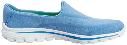 Skechers GO Walk 2 Super Sock Damen Walkingschuhe Blau (Blu)