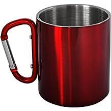 normani 5 x Thermo Edelstahltasse Feldtasse doppelwandig 300 ml