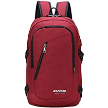 JiaMeng Unisex USB Mochila Messenger Bag Moda Casual Bolsa de Viaje al Aire Libre Mochila Portátil