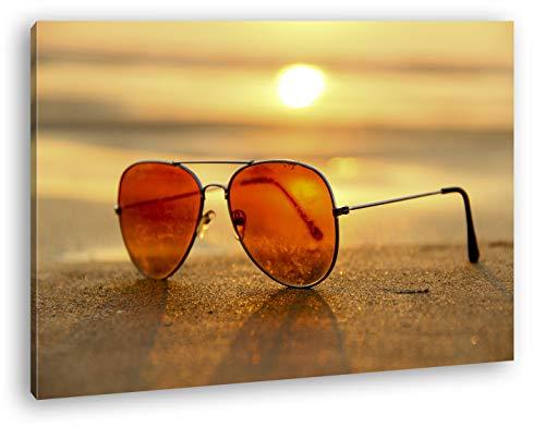deyoli Blick durch die Sonnenbrille Format: 100x70 als Leinwand, Motiv fertig gerahmt auf Echtholzrahmen, Hochwertiger Digitaldruck mit Rahmen, Kein Poster oder Plakat