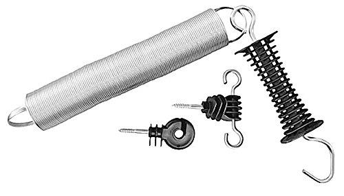 5 Stück Weidezaun Torgriff-Set bis max. 5 m ausziehbar inkl. Ring-und Torisolator