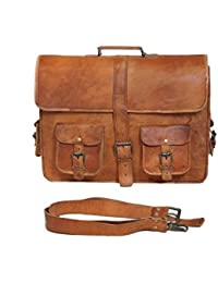 100% Genuine Leather Laptop Bag For Men/Office Briefcase For Men/Designer Leather Briefcase/Hand Made And Hand... - B0791K6H55