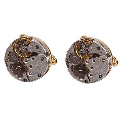 Vintage Steampunk Uhrwerk Bräutigam Männer Manschettenknöpfe Hochzeit's Geschenk