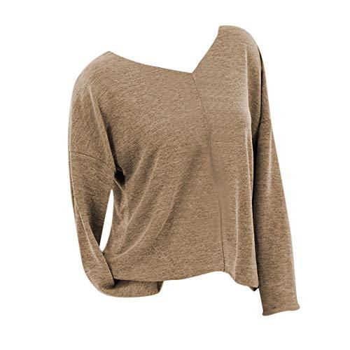 pretty nice 98c6f e8753 Saihui Women Knitwear Jersey de Punto Grande para Mujer, Manga Larga,  Cuello en V,