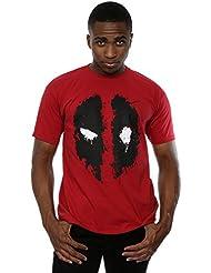 Marvel hombre Deadpool Splat Face Camiseta