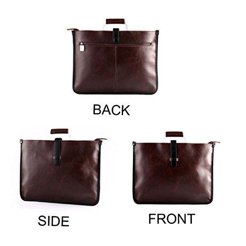 Neu Trendy Herren Retro Business Meeting Lässig Handtasche Aktentasche Freizeittasche Umhängetasche Umhängetasche Tasche Brown