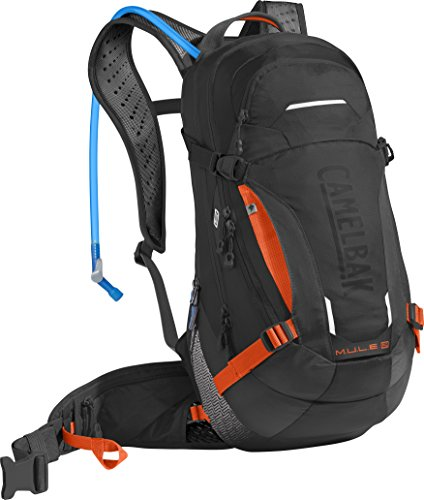 Camelbak M.U.L.E. LR Hiking-Hydration-Packs, Black/Laser Orange, 100 oz