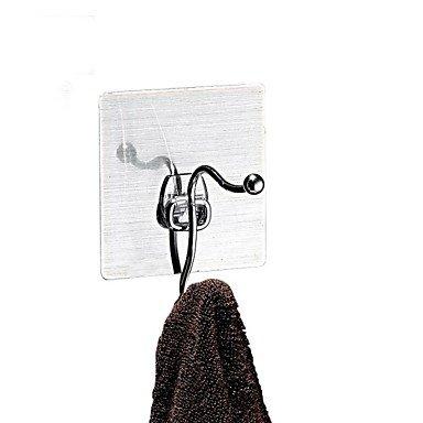 miaoge® Magic Aufkleber verchromtem Metall Kleiderbügel t18sh/Coat Rack Wandhalterung Haken Aufhänger/Traceless Aufkleber Haken Kleiderbügel (Wand-montage 6 Haken Coat Rack)