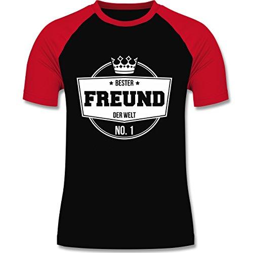 Shirtracer Typisch Männer - Bester Freund der Welt - Herren Baseball Shirt Schwarz/Rot