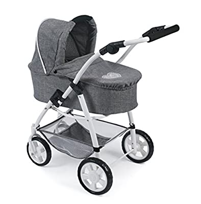 Bayer Chic 2000 637 76 Kombi Emotion All In, 3-in-1 Puppenwagen, Jeans grau