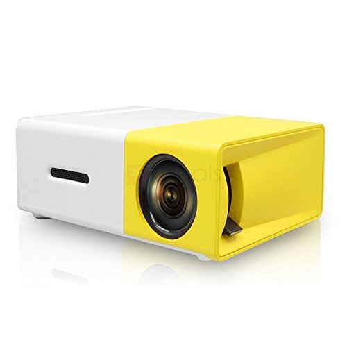 SEC YG-300 Mini Portable (600 Lumens Video 1080P)High Resolution LED Projector