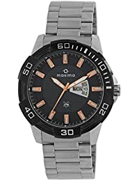 Maxima Day&Date Black Dial Attivo Collection Watch For Men-38110CMGI