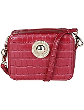 Versace Jeans E1VQBBGB_75456 Damen-Clutch Unterarmtasche Leder Rot