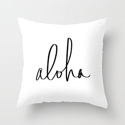 Dekoratives Kissen Fall Aloha Hawaii Typografie Kissenbezug 45,7x 45,7cm