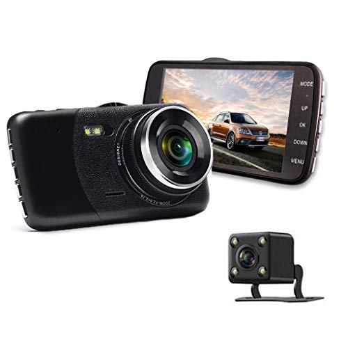 SAN_R 1080P Full HD-Kamera mit Zwei Linsen für das Auto-DVR-Dashcam 4-Zoll-Display-Auto-Kamera G-Sensor WDR