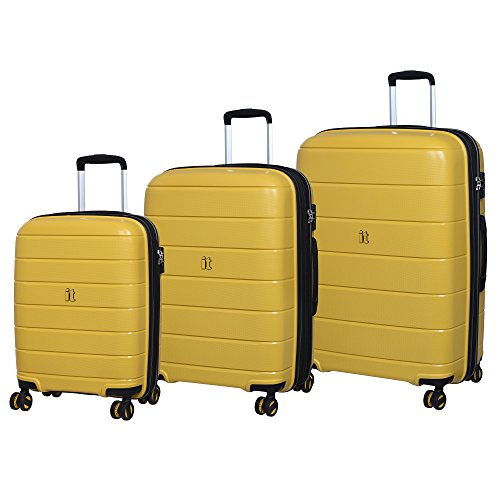 '3 pezzi Set di Asteroid trolley 8 ruote hard shell Expander Suitacses valigia, 75 cm, Cheese Yellow (Giallo) - 15-2183-08GLO3N-S669