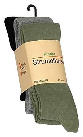 3'er Set Kinder Strumpfhosen, Baumwolle (Öko-Tex Standard 100 Zertifiziert) original VCA®