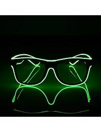 ab7c7e06907c26 Lunettes Lumineuses Standard à LED Fil EL Mode néon Lunettes de Soleil à  lumière Froide pour soirée dansante Bar réunion Lueur Rave…