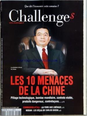 CHALLENGES [No 96] du 18/10/2007 - AVANT...