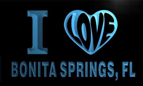 v52073-b I Love BONITA SPRINGS, FL FLORIDA City Limit Neon Sign Barlicht Neonlicht Lichtwerbung